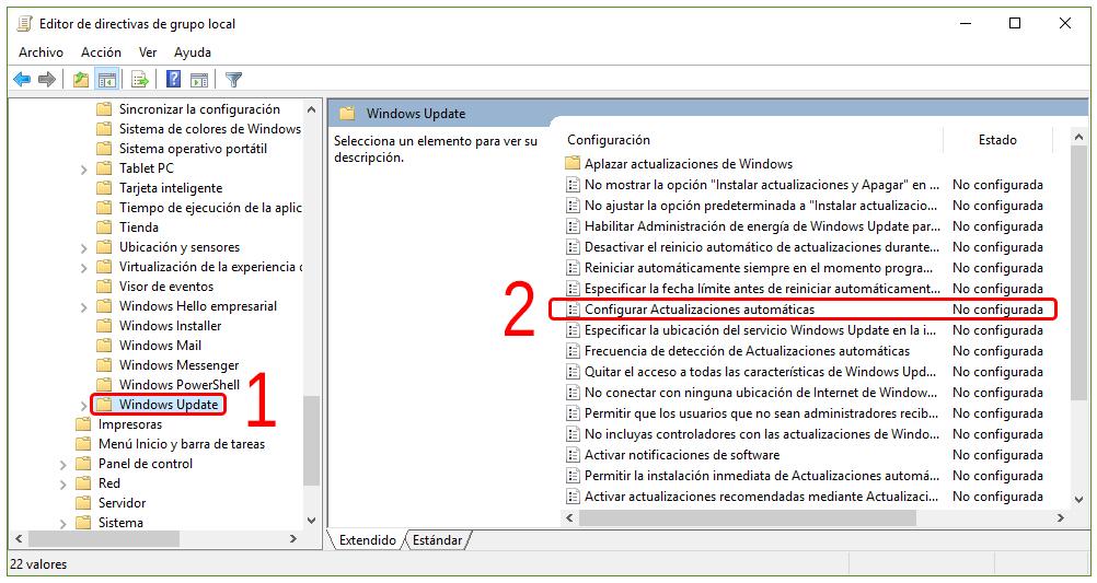 Cómo desactivar las actualizaciones de Windows 10 3