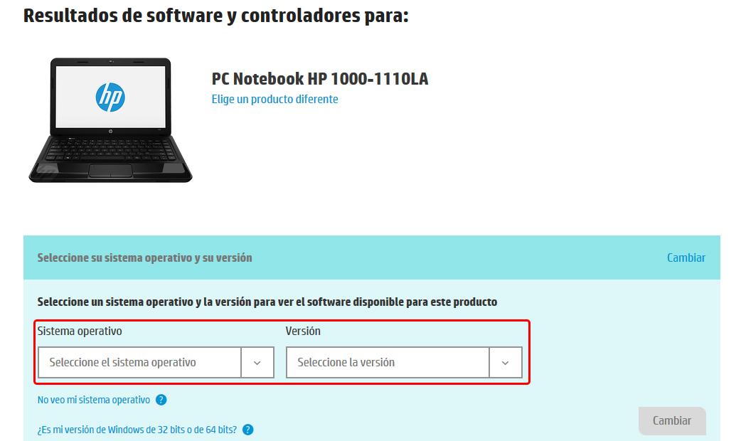 Instalar o actualizar controladores desde Windows