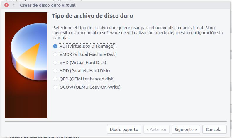tipo de archivo de disco duro