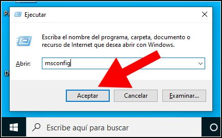 Abrir MSConfig en Windows 10