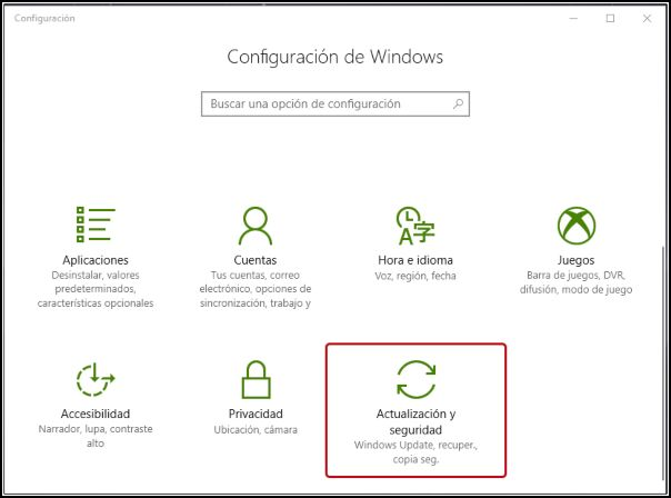 actualización seguridad Windows