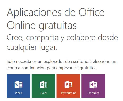 Alternativas online Microsoft y Google