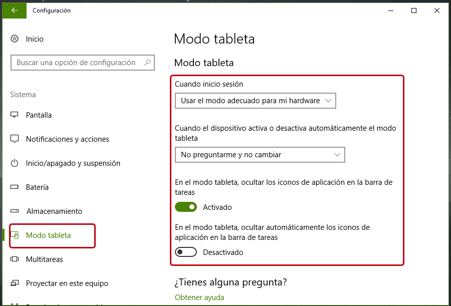 Cómo activar y desactivar el modo tableta en Windows 10