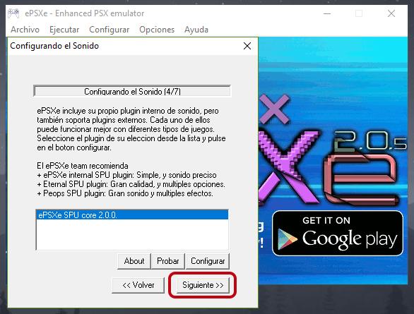 Cómo instalar y configurar el emulador ePSXe