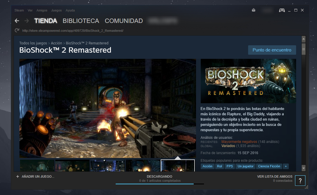 Saga BioShock en Steam