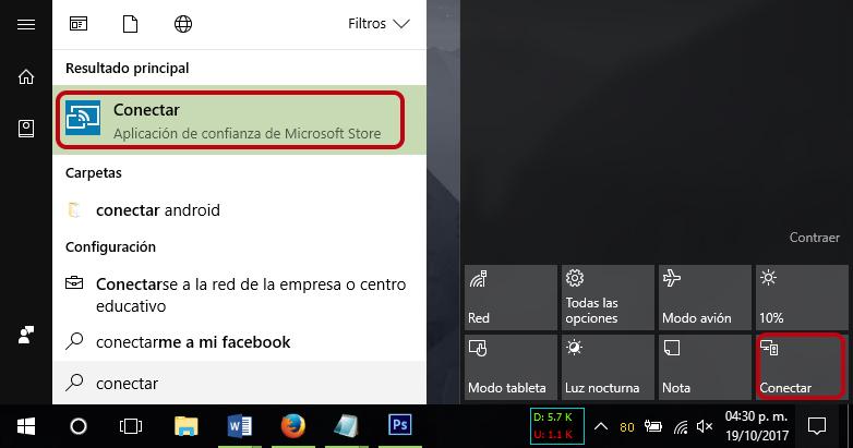 Cómo conectar un móvil Android a Windows 10