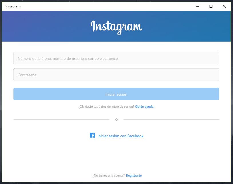 Cómo crear una cuenta de Instagram para Windows 10
