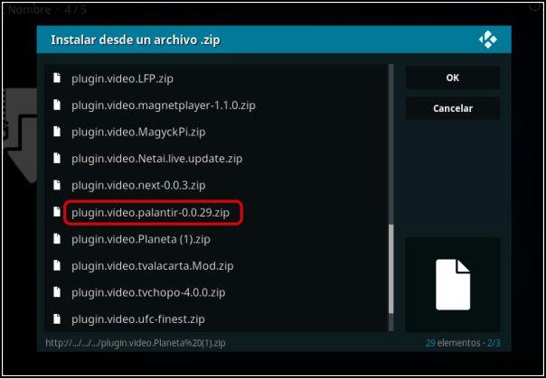 Instalar Plugin de vídeo de Palantir
