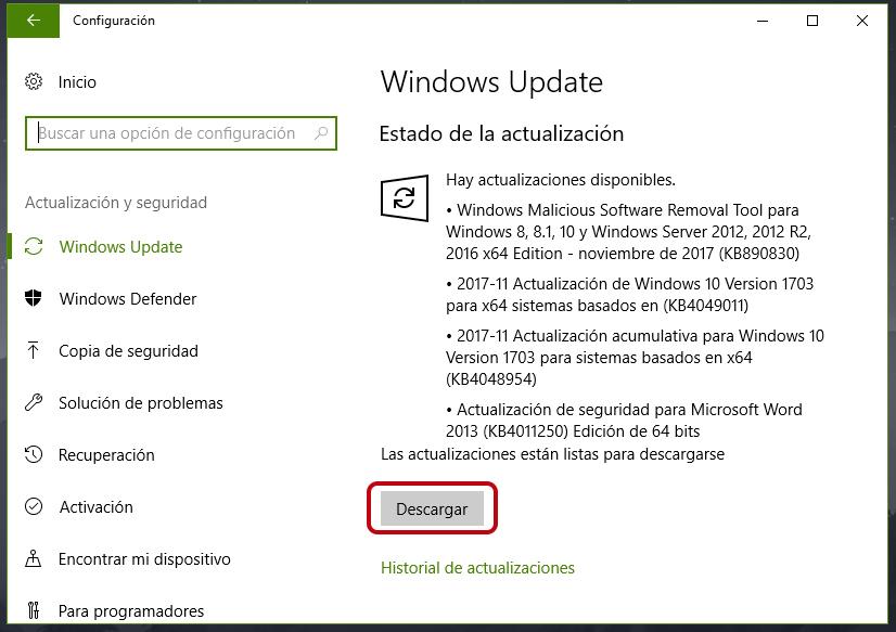 Cómo actualizar a Windows 10 Fall Creators Update 1