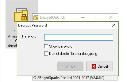 Poner contraseña con EncryptOnClick