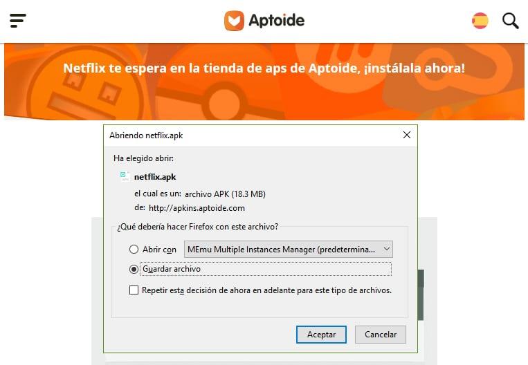 Cómo descargar Aptoide para PC
