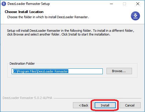 install deezloader remaster setup