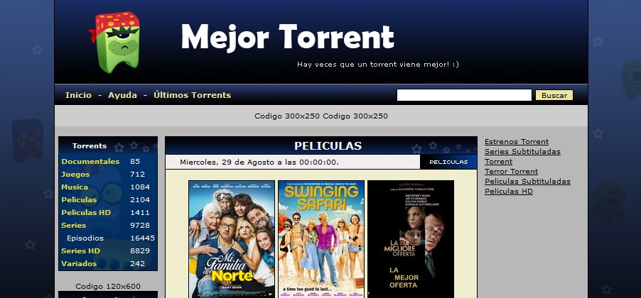 Mejores buscadores torrent (septiembre 2018)