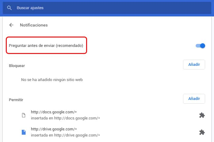 Cómo desactivar las notificaciones en Google Chrome