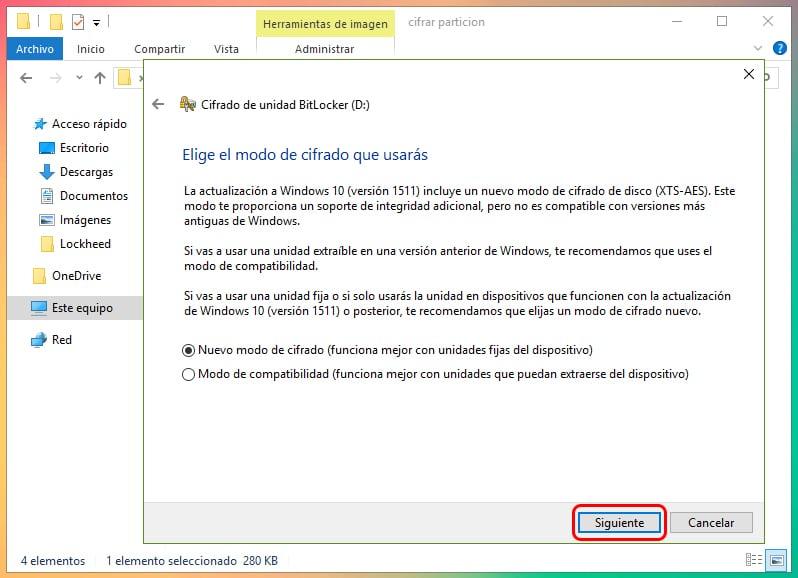 Cómo encriptar una partición en Windows 10 1