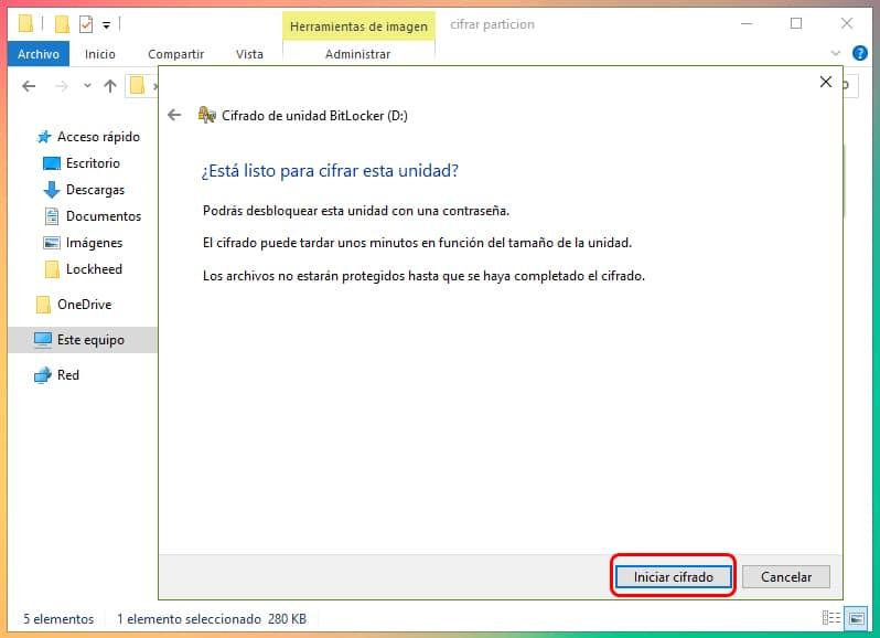 Cómo encriptar una partición en Windows 10 2