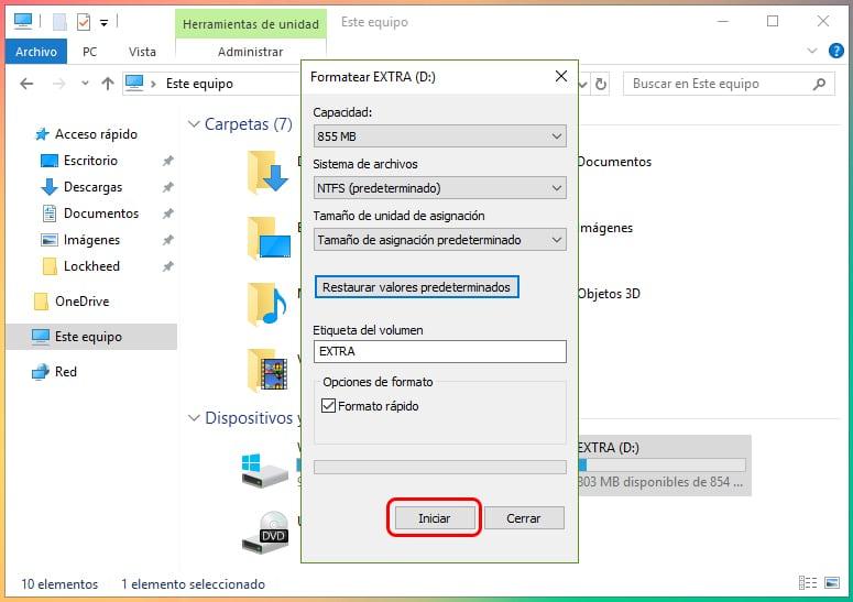 Cómo formatear un nuevo disco duro en Windows 10