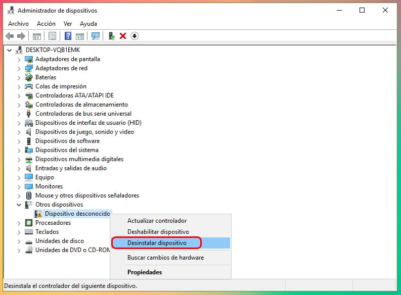No se reconoce el dispositivo USB en Windows 10: Solución 2