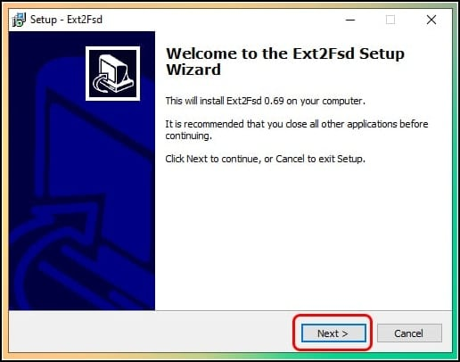 instalar Ext2fsd