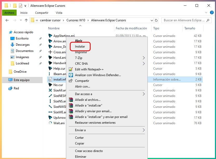 Cómo cambiar el puntero del mouse en Windows 10 1