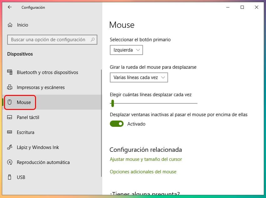 Cómo cambiar el puntero del mouse en Windows 10 2