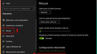 Cómo configurar el ratón en Windows 10: Solución
