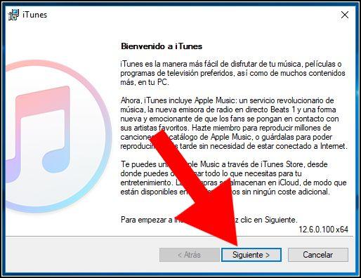 instalación iTunes