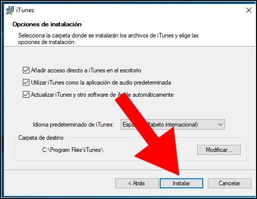 instalar iTunes