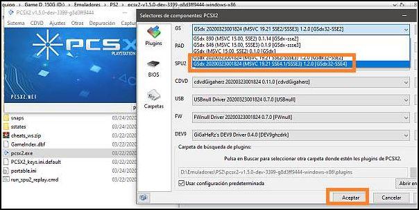 configurar PCSX2, máxima calidad