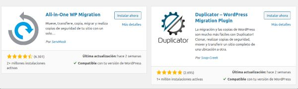 plugins migrar WordPress