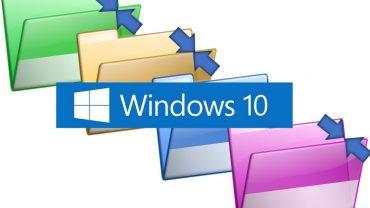 Aprende a eliminar las molestas flechas azules de Windows 10