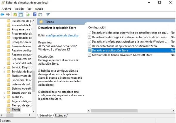 desactivar wsappax con editor de politicas de windows
