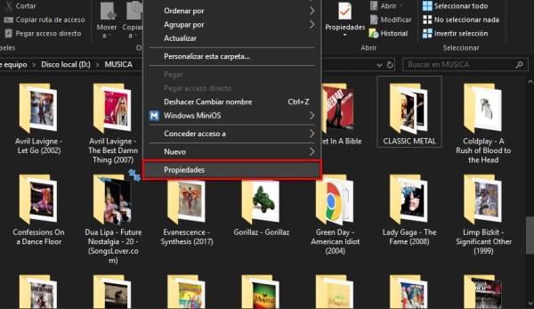 Eliminar flechas azules de una carpeta o archivo específico en Windows 10