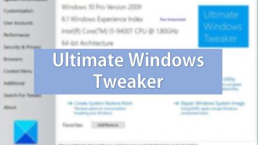 Qué es Ultimate Windows Tweaker y para qué sirve