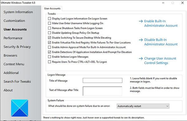 ultimate windows tweaker_user accounts
